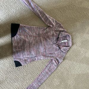 Size 6 stripped lululemon quarter zip